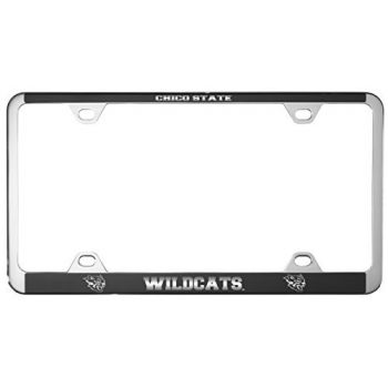 California State University, Chico-Metal License Plate Frame-Black