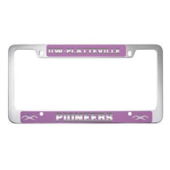 University of Wisconsin-Platteville-Metal License Plate Frame-Pink