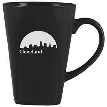 14 oz Square Ceramic Coffee Mug - Cleveland City Skyline