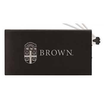 8000 mAh Portable Cell Phone Charger-Brown University -Black