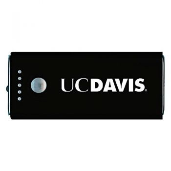 University of California, Davis -Portable Cell Phone 5200 mAh Power Bank Charger -Black