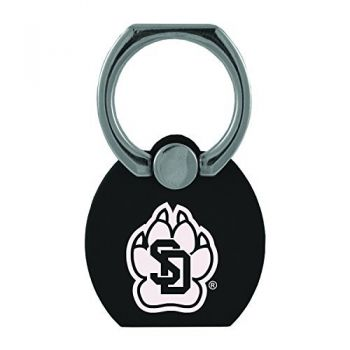 University of South Dakota|Multi-Functional Phone Stand Tech Ring|Black