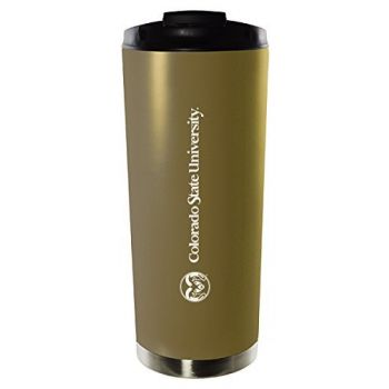 Colorado State University-16oz. Stainless Steel Vacuum Insulated Travel Mug Tumbler-Gold