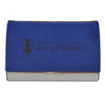 Velour Business Cardholder-University of North Carolina at Greensboro-Blue