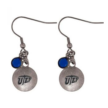 The University of Texas at El Paso-Frankie Tyler Charmed Earrings