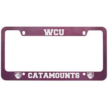 Western Carolina University -Metal License Plate Frame-Pink