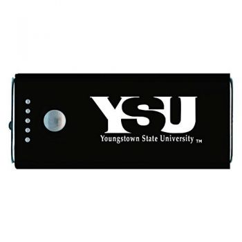 Youngstown State University -Portable Cell Phone 5200 mAh Power Bank Charger -Black