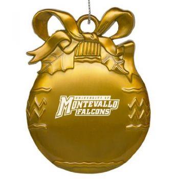 University of Montevallo - Pewter Christmas Tree Ornament - Gold
