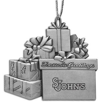 Saint John's University - Pewter Gift Package Ornament