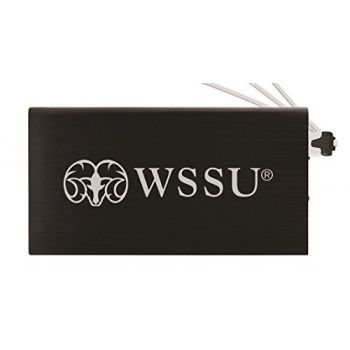 8000 mAh Portable Cell Phone Charger-Winston-Salem State University -Black