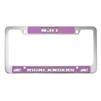 New Jersey institute of Technology-Metal License Plate Frame-Pink