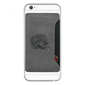 Jacksonville State University-Cell Phone Card Holder-Grey