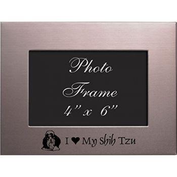 4 x 6  Metal Picture Frame  - I Love My Shih Tzu