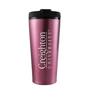 Creighton University -16 oz. Travel Mug Tumbler-Pink