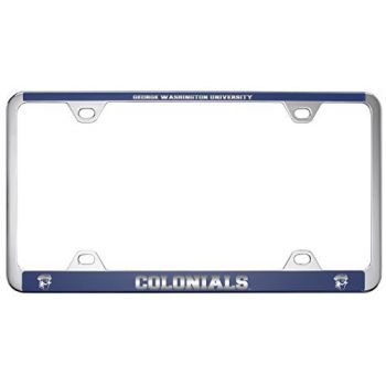 George Washington University -Metal License Plate Frame-Blue
