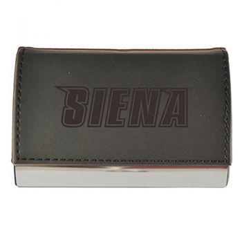 Velour Business Cardholder-Siena College-Black