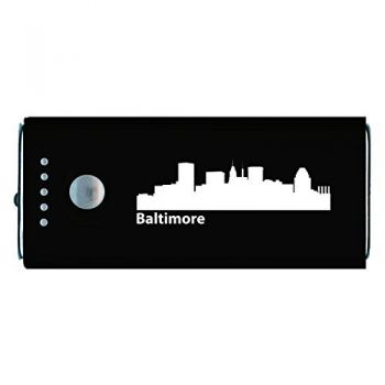 Baltimore, Maryland-Portable Cell Phone 5200 mAh Power Bank Charger-Black