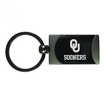 University of Oklahoma-Two-Toned Gun Metal Key Tag-Gunmetal