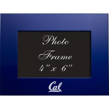 University of California, Berkeley - 4x6 Brushed Metal Picture Frame - Blue
