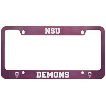 Northwestern State University -Metal License Plate Frame-Pink