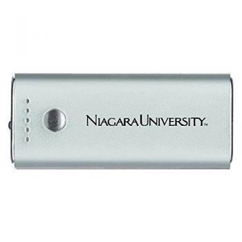 Niagara University -Portable Cell Phone 5200 mAh Power Bank Charger -Silver