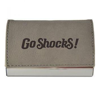 Velour Business Cardholder-Wichita State University-Grey