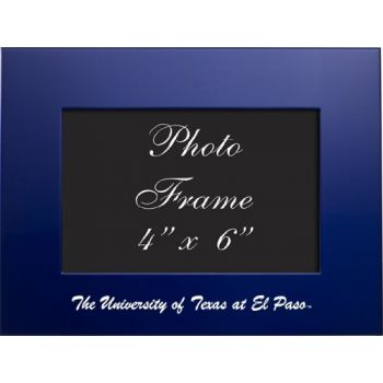 University of Texas at El Paso - 4x6 Brushed Metal Picture Frame - Blue