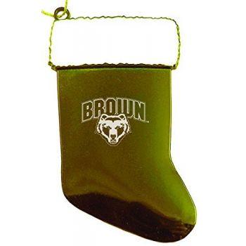 Brown University - Chirstmas Holiday Stocking Ornament - Gold