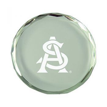 ASU Sun Devils-Crystal Paper Weight