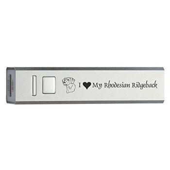 Quick Charge Portable Power Bank 2600 mAh  - I Love My Rhodesian Ridgeback
