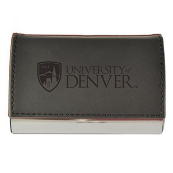 Velour Business Cardholder-University of Denver-Black