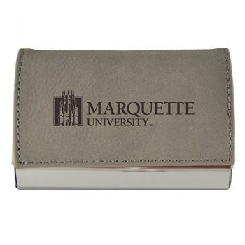 Velour Business Cardholder-Marquette University-Grey