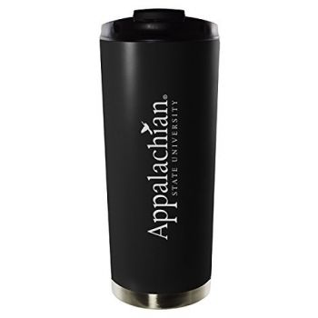 Appalachian State University-16oz. Stainless Steel Vacuum Insulated Travel Mug Tumbler-Black