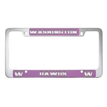 University of Washington-Metal License Plate Frame-Pink