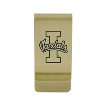 Howard University |Money Clip with Contemporary Metals Finish|Solid Brass|High Tension Clip to Securely Hold Cash, Cards and ID's|Silver