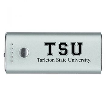 Tarleton State University -Portable Cell Phone 5200 mAh Power Bank Charger -Silver