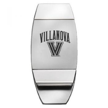 Villanova University - Two-Toned Money Clip - Silver
