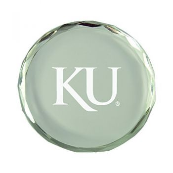 The University of Kansas-Crystal Paper Weight
