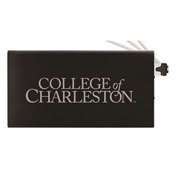 8000 mAh Portable Cell Phone Charger-College of Charleston-Black