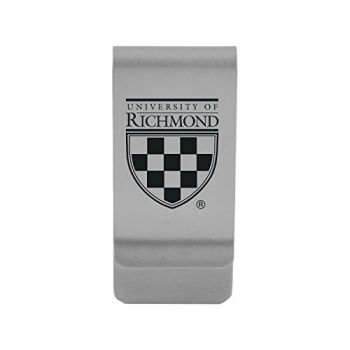 University of Richmond|Money Clip with Contemporary Metals Finish|Solid Brass|High Tension Clip to Securely Hold Cash, Cards and ID's|Gold
