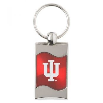 Indiana University - Wave Key tag - Red