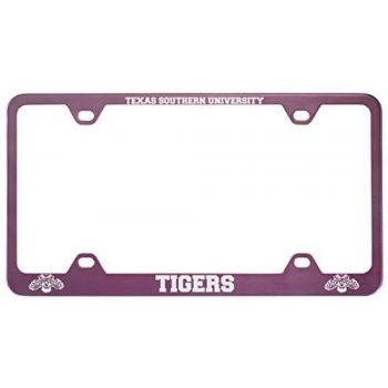Texas Southern University -Metal License Plate Frame-Pink
