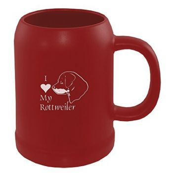 22 oz Ceramic Stein Coffee Mug  - I Love My Rottweiler