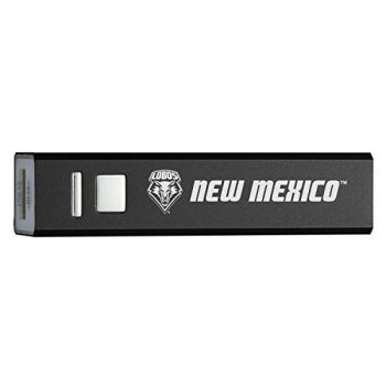 University of New Mexico - Portable Cell Phone 2600 mAh Power Bank Charger - Black