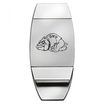 Gardner-Webb University - Two-Toned Money Clip - Silver