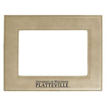 University of Wisconsin-Platteville-Velour Picture Frame 4x6-Tan