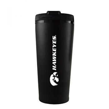 University of Iowa-16 oz. Travel Mug Tumbler-Black