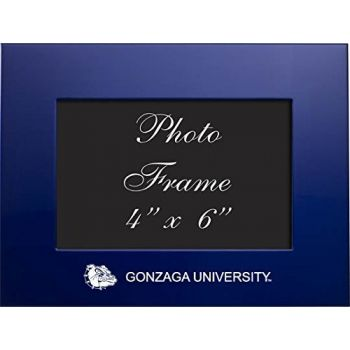 Gonzaga University - 4x6 Brushed Metal Picture Frame - Blue