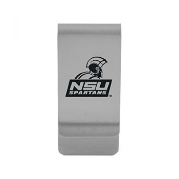 Norfolk State University|Money Clip with Contemporary Metals Finish|Solid Brass|High Tension Clip to Securely Hold Cash, Cards and ID's|Gold