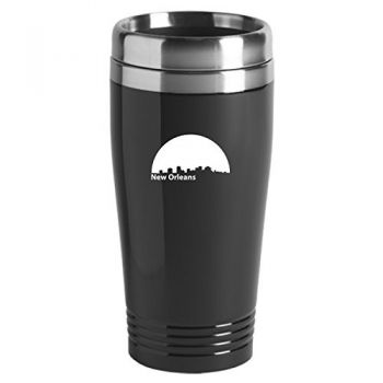 New Orleans, Louisiana-Travel Mug Tumbler-Black